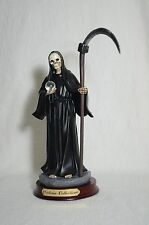 "La Santa Muerte 8 1/2"" Grim Reaper Holy Death Color Black- Skull, Skeleton"