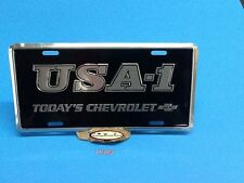 CHEVROLET USA-1 ALUMINUM LICENSE PLATE EMBOSSED CAR TAG TODAY'S CHEVROLET