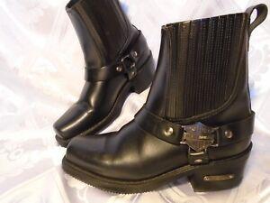 Harley-Davidson-Men-039-s-Black-Harness-Motorcycle-Boot-Size-7