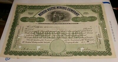 1921 Montana County of Silver Bow City of Butte $1000 Funding Bond with coupons