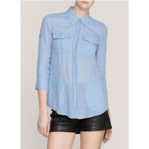 boutonnée Lawn coton Chemise bleu en taille Theory petit Shirt Marandel OkNPXnwZ80