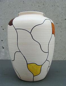 WOW-50er-60er-jahre-VASE-50s-60s-pottery-mid-century-tolles-dekor
