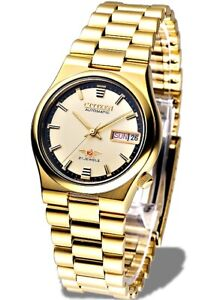 Citizen-Classic-Automatic-Men-039-s-Gold-Stainless-Strap-Watch-NH3742-56R