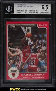1984 Star Basketball Michael Jordan ROOKIE RC #101 BGS 6.5 EX-MT+
