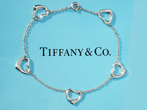 428c2a9b3 Tiffany & Co Elsa Peretti Sterling Silver Open Heart Five 5 Hearts ...