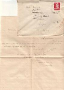 Details about Argentina 1950\'s cover/letter Zunilda Mergen Esperanza to  actress Paula Raymond
