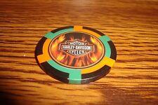 Harley Davidson Motorcycles Poker Chip, Card Guard FLAME'S Harvey Davidson gbo