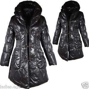 da a invernale L donna Giacca palloncino da caldo M cappotto Anorak invernale nero Parka Giacca 40 42 qpTB00