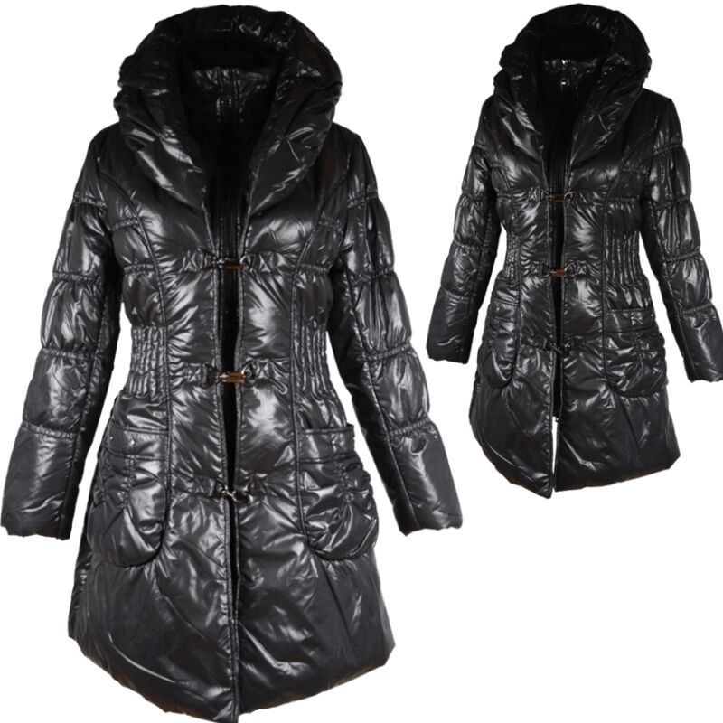 Damen Ballon Winterjacke Daunen Mantel Jacke 40 42 M L Parka Schwarz Anorak Warm Elegant Und Anmutig