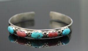Aufrichtig Indianer Angelita Cheama Folkloreschmuck angie C Zuni Türkis Koralle 925 Armband 1,8 M Indianerschmuck
