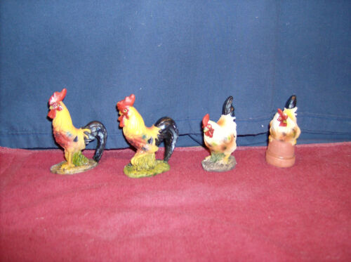 Lot Of 4 Roosters /& Hens  TO10226  50/% Off $4.97