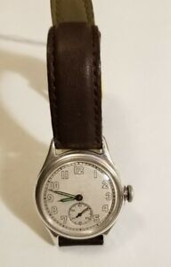 Bulova 10AK  military wrist watch  sterling silver case stainless back serviced