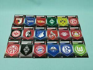 Topps-match-corono-2019-2020-todos-18-emblema-club-tarjetas-completamente-set-19-20