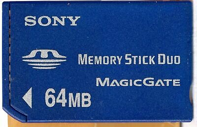 64MB SONY Memory Stick Card Pro Duo PSP Magic Gate. Only 64 MB