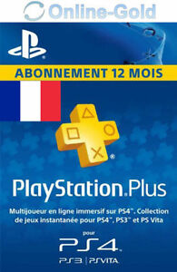 playstation plus abonnement 12 mois 365 jours 1 ann e code psn ps4 ps3 fr ebay. Black Bedroom Furniture Sets. Home Design Ideas