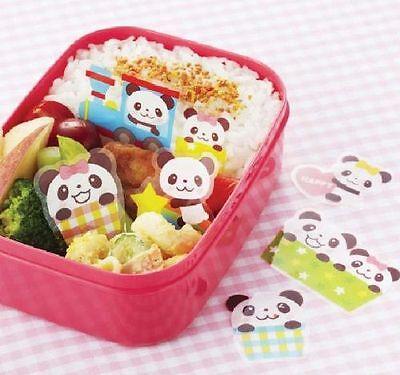 Panda Diviseur Bento Lunch Box Baran antibactérien Food Accessoires 18pcs