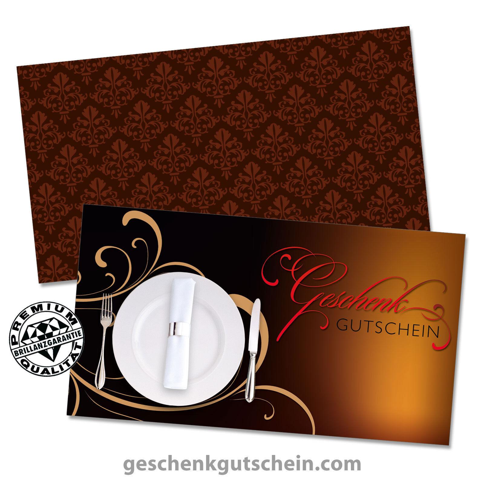 Gutscheinkarten mit KuGrüns für die Gastronomie, Restaurants, Gaststätten G1289