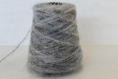 79,96€//kg 2,9 250g 90/% SUPER KID MOHAIR BLAUGRAU F22 Langhaar Zwirn Wolle