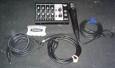 Monacor MMX-8 Universal Mixer w RadioShack Microphone, Cables & USB Hub