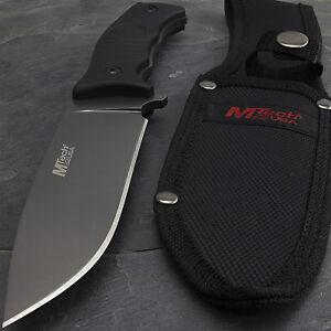 10-034-MTECH-USA-TITANIUM-SURVIVAL-HUNTING-FIXED-BLADE-KNIFE-w-NYLON-FIBER-HANDLE