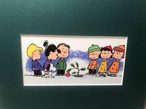 CHARLIE BROWN /&  LINUS VAN PELT~PEANUTS~8 x 10 Mat Print~CHRISTMAS TREE TROUBLE