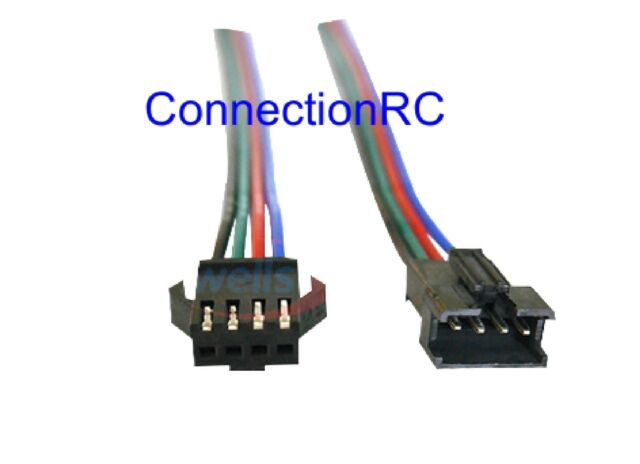JST SM 2.5 Four Pin Connectors with Leads x 4 Pairs