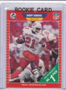 Details About Barry Sanders Rookie Card 1989 Football 1 Nfl Prospect Rc Detroit Lions Hofer