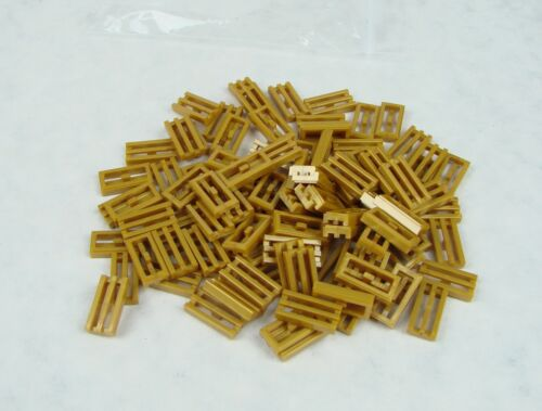 LEGO ~ 1x2 grill tile w//groove #2412b ~ Pearl Gold ~ 50 pcs ~ new