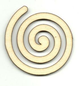 Swirl Design - Unfinished Laser Cut Out Wood Shape Craft Supply DSN32