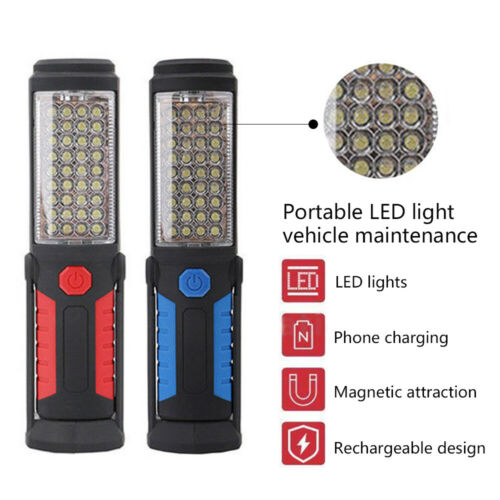 Outdoor Rechargeable Portable Flashlight 36+5LED Hand Lamp Inspection Work Light