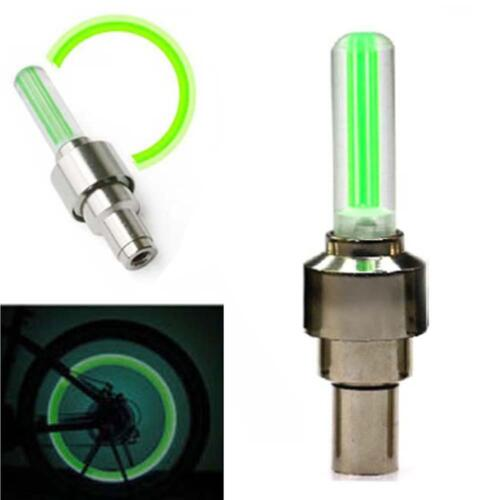 2Pcs Bike Bicycle Car Motorcycle Wheel Tire Valve Stem Cap Neon LED Light Lamp b