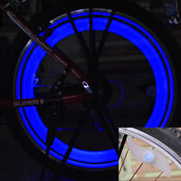 Blue LED Wheel Spoke Tire Wire Tyre Bright LED Light Lamp Bike Bicycle Cycling