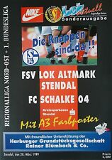 Programm 28.3.1999 Lok Altmark Stendal - FC Schalke 04