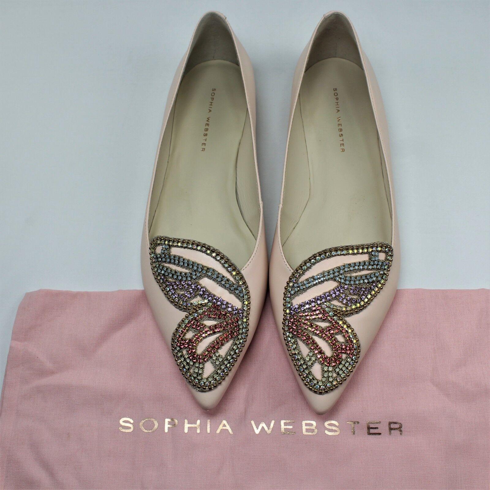 Sophia Webster Bibi Butterfly Crystal Ballet Flat shoes New In Box  Choose Size