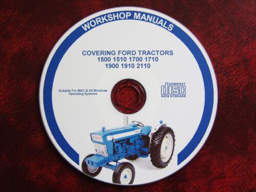 Ford 1500 1510 1700 1710 1900 1910 2110 Tractor Taller reparación Manual de servicio