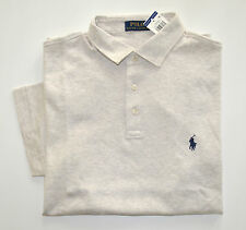 NWT Men's Ralph Lauren Short-Sleeve Jersey Polo Shirt, Gray, XXL, 2XL
