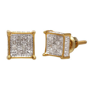10k-Solid-Yellow-Gold-0-06-Ct-Round-Cut-White-Natural-Diamond-Stud-Earrings-6-mm