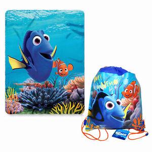 Disney-Finding-Dory-Nemo-Fleece-Throw-Blanket-45-034-x-60-034-Sling-Backpack-NEW
