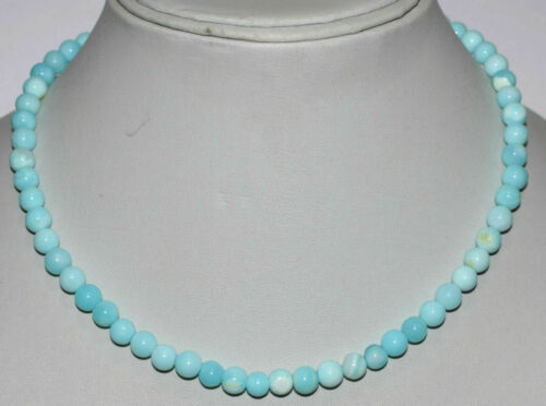 Opal Stein 5-6mm Runde Glatte Perlen 12-45 Strang 925 Sterling Silber Halskette