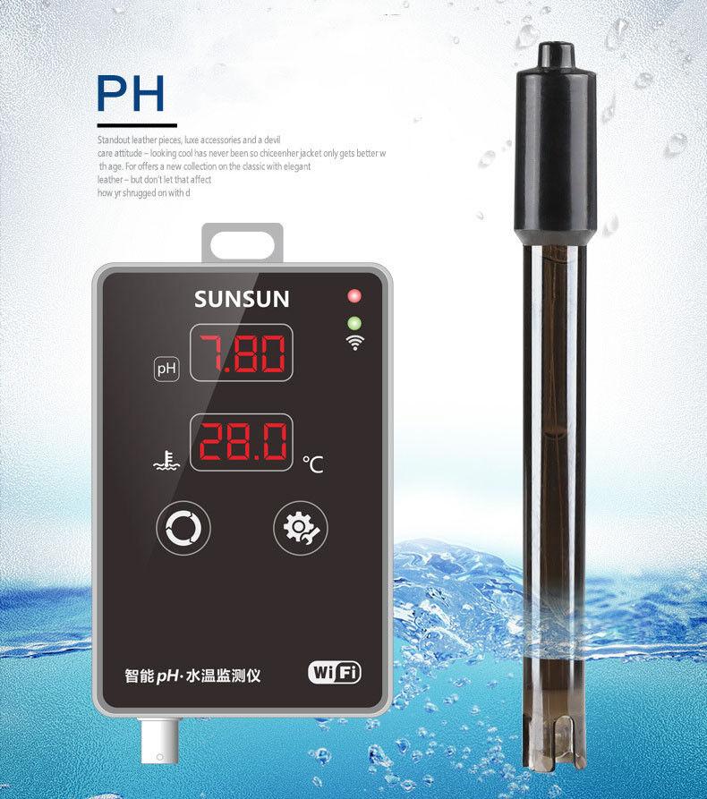 Test Ph Acuario Digital Tester de pluma Termómetro Medidor de medición Wifi valor de pH