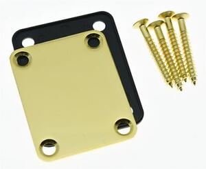 Gold-Electric-Guitar-Neck-Plate-Metal-Neckplate-Fits-For-Fender-Strat-Tele