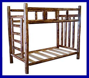 Classic Cedar Rustic Log Bunk Bed Full Full Ebay
