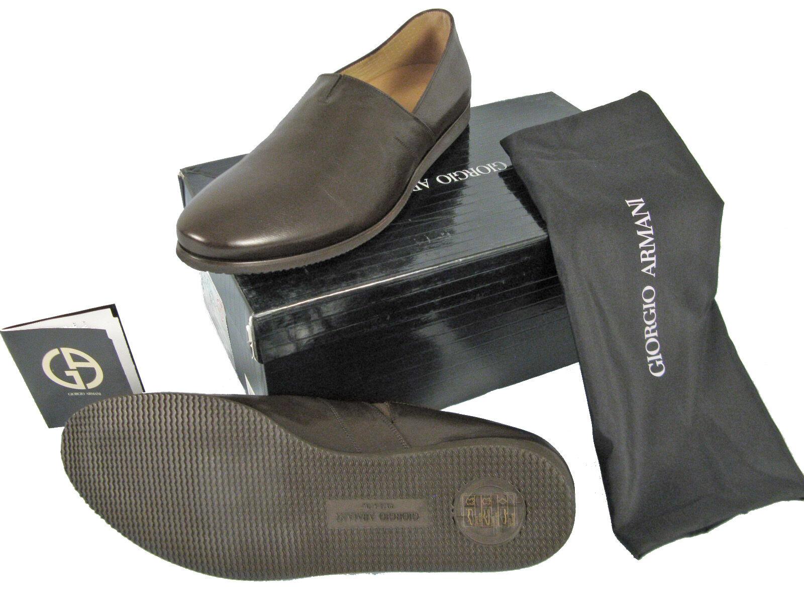 NEW  645 Giorgio Armani Uomo Shoes!  e 45 Approx   12   Casual Brown Slipons