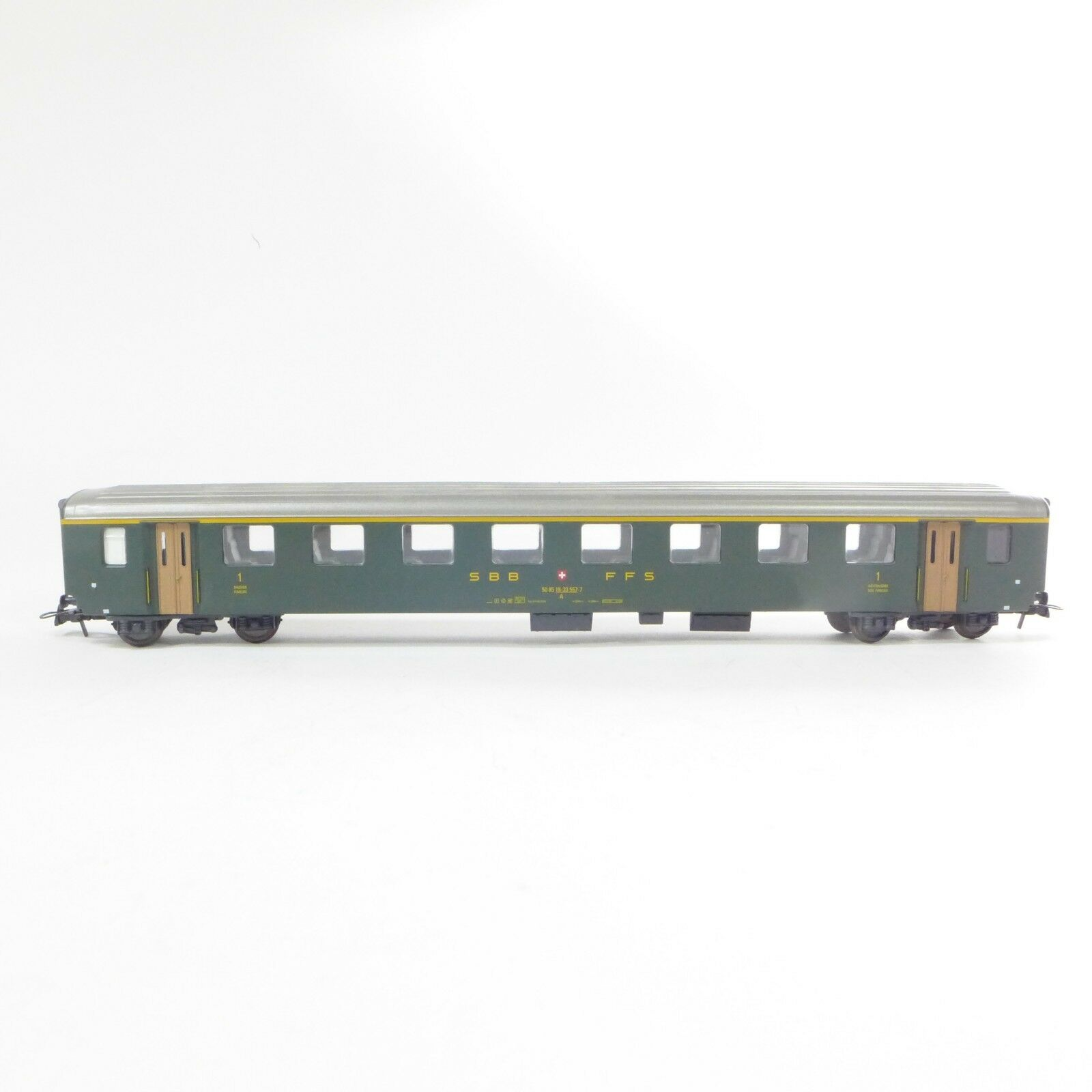 Vintage Hag Suizo Hecho Escala Ho SBB Cff verde Pasajero Coche Tren Vehículo