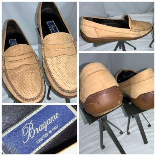 Bragano Penny Loafers Moccasins Sz 11.5 Men Beige