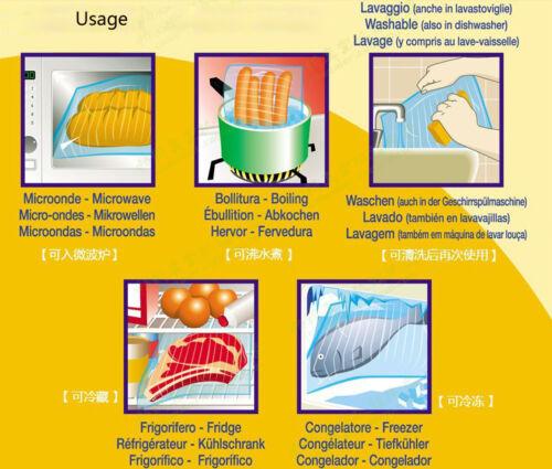 haute de sécurité 50 pcs chaleur Sacs Haute Qualité Food Saver scelleuse sous vide sacs