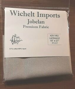 Wichelt PREMIUM JOBELAN FABRIC 28 ct Cross Stitch 18 x 27 IVORY Evenweave