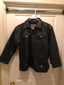 à Gap fermeture femmes authentiques veste 100 L cuir fine noire taille grand glissière xUAwcOqP4