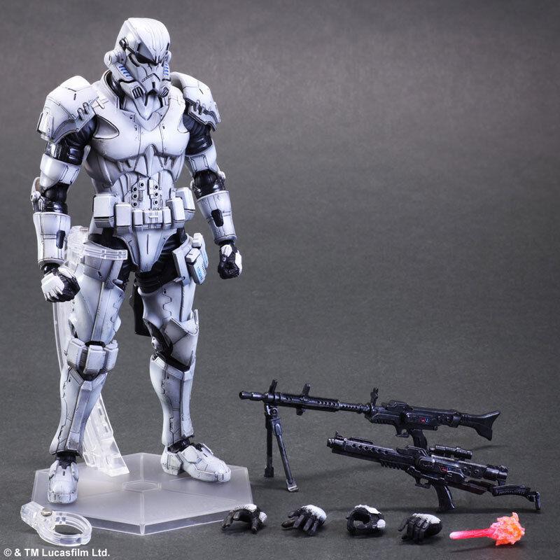 SQUARE ENIX Play Arts Kai Star Wars variante Stormtrooper Pak Exposed Ouvert Box