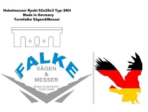 2 Stück Hobelmesser Ryobi 92x29x3 Typ SKH